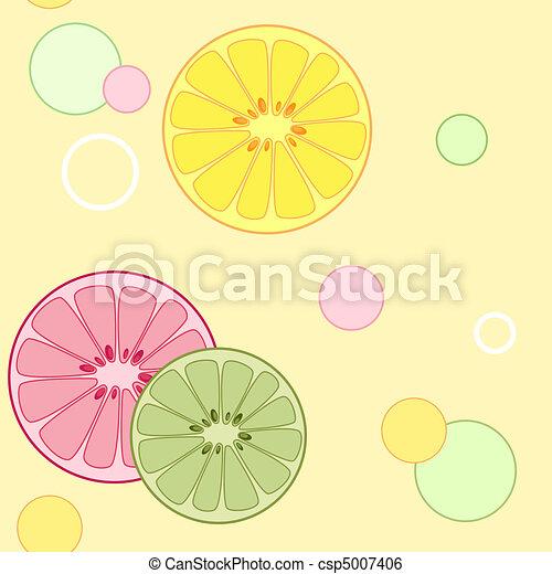 citrus seamless pattern - csp5007406