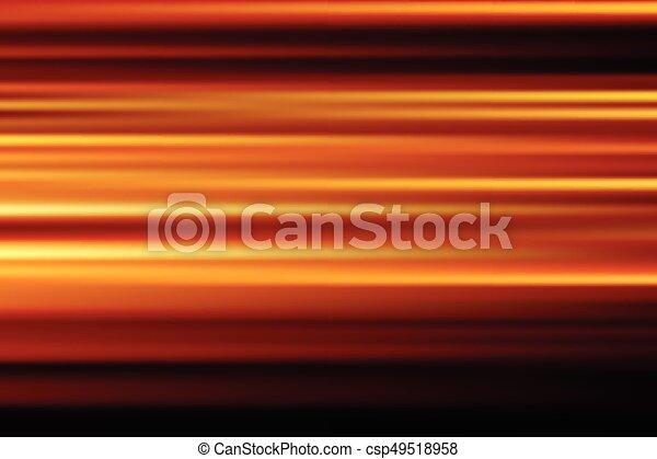città, astratto, offuscamento, lungo, movimento, luci, vettore, fondo, notte, arancia, velocità, esposizione - csp49518958