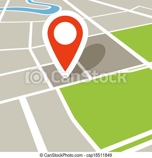 città, astratto, prospettiva, mappa - csp18511849