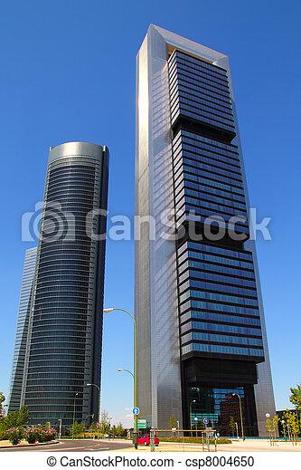 città, costruzioni, moderno, grattacieli, madrid - csp8004650