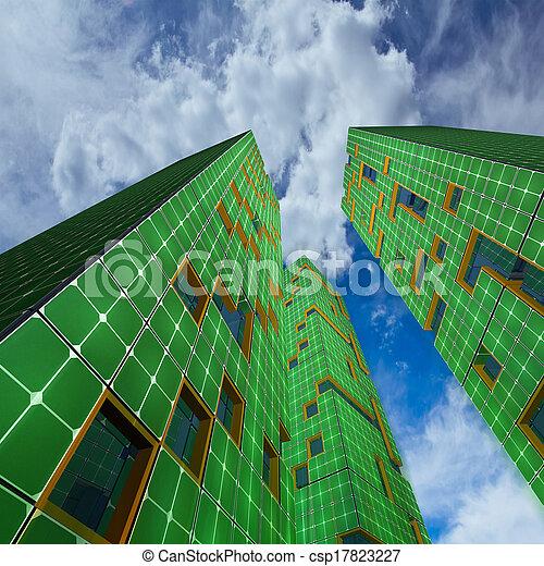 città, ecologia, grattacieli - csp17823227