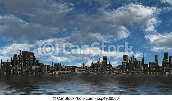 città, futuro - csp4988560