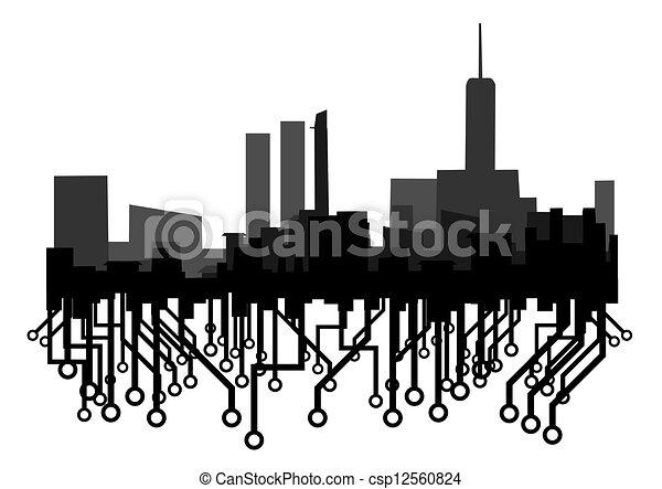 città, futuro - csp12560824