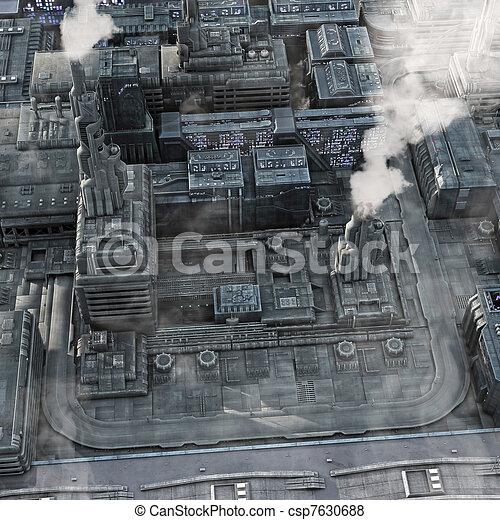 città, futuro, industriale - csp7630688