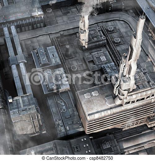 città, futuro, industriale - csp8482750