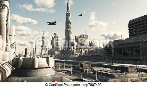 città, futuro, strada, vista - csp7807493