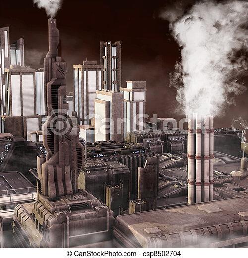 città, industriale, futuro - csp8502704