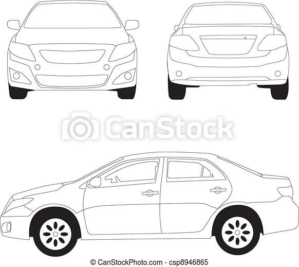 città, linea, illustrazione, automobile - csp8946865