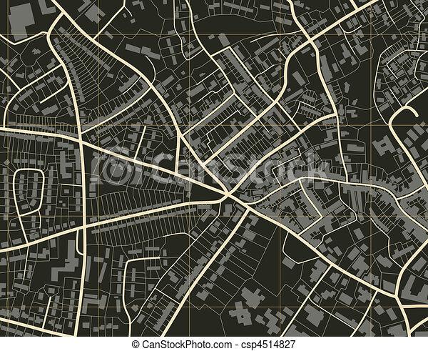 città, mappa - csp4514827