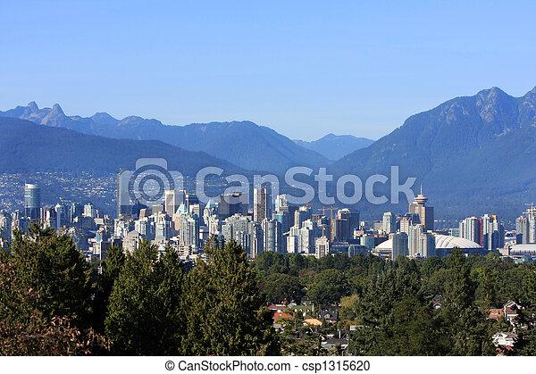 città, vancouver, centro - csp1315620