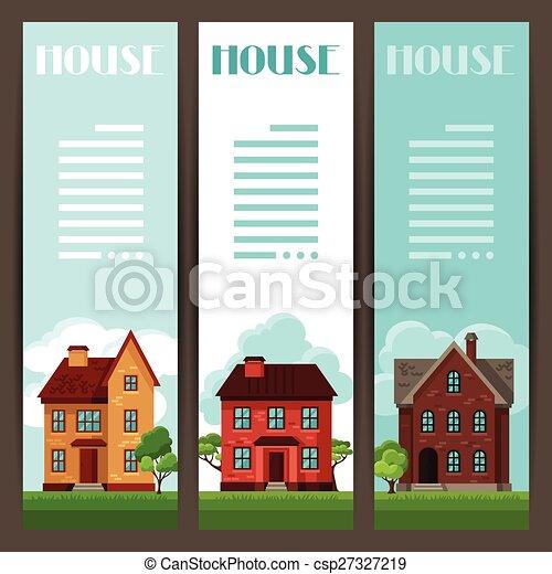 Citt verticale cottage case disegno bandiere citt for Cottage come case