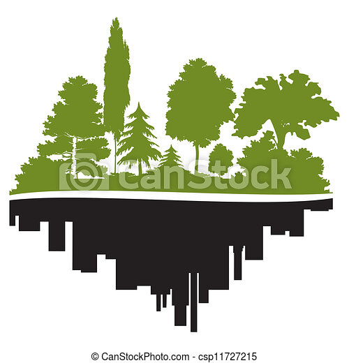 City and forest - csp11727215