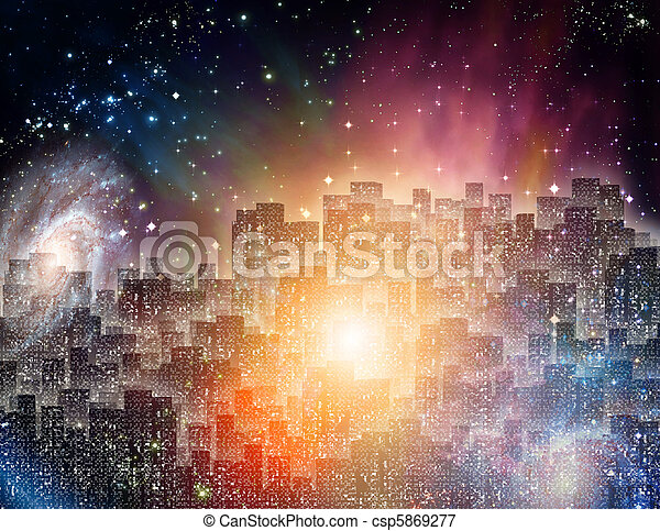 City at night - csp5869277