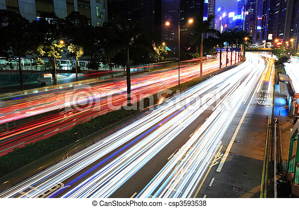 city at night - csp3593538
