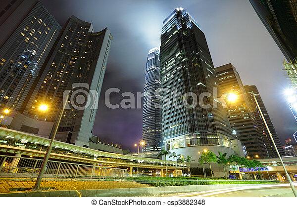 city at night - csp3882348
