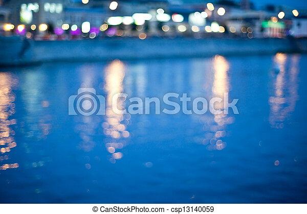 City at night - csp13140059