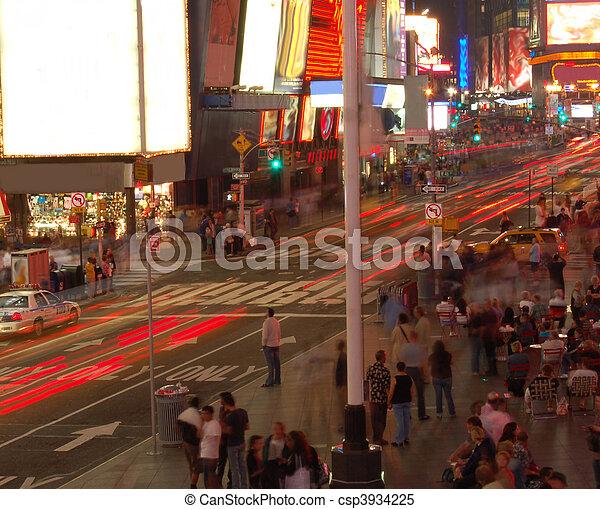 city at night - csp3934225