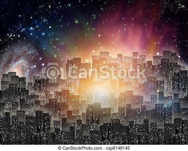 City at night - csp8148145