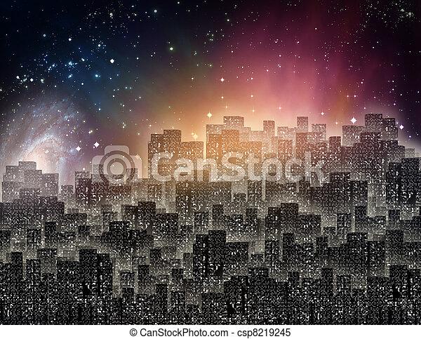 City at night - csp8219245