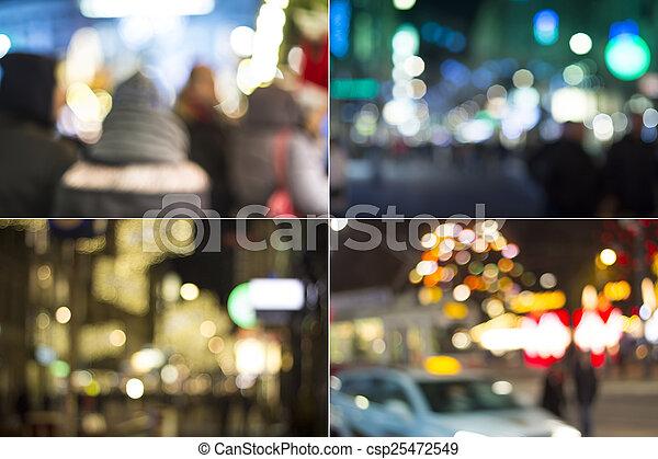 City at night - csp25472549