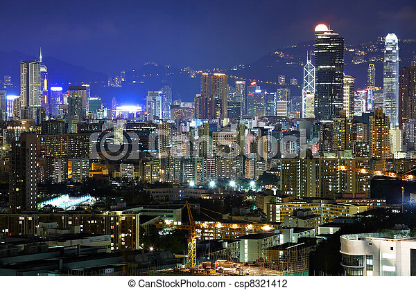 City at night - csp8321412