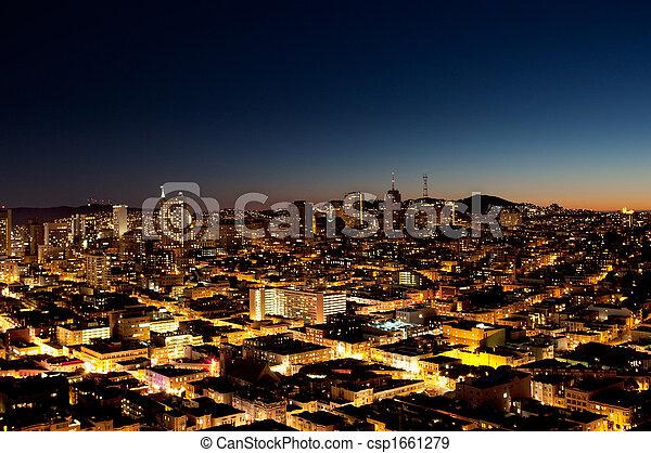 City at Night - csp1661279
