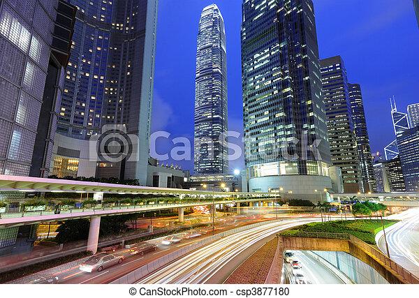 city at night - csp3877180