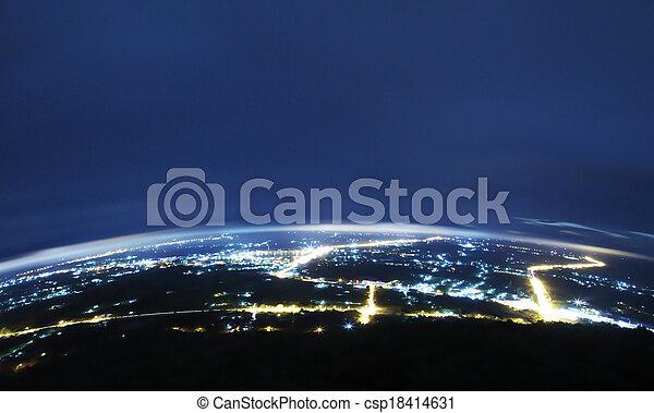 City at night. - csp18414631