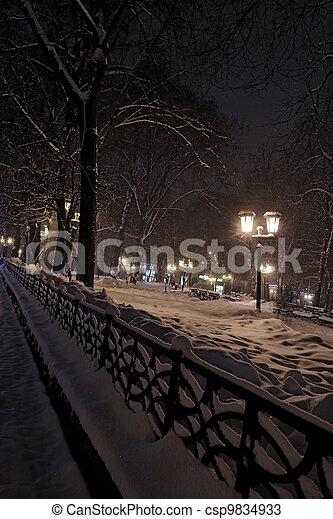 City at night - csp9834933
