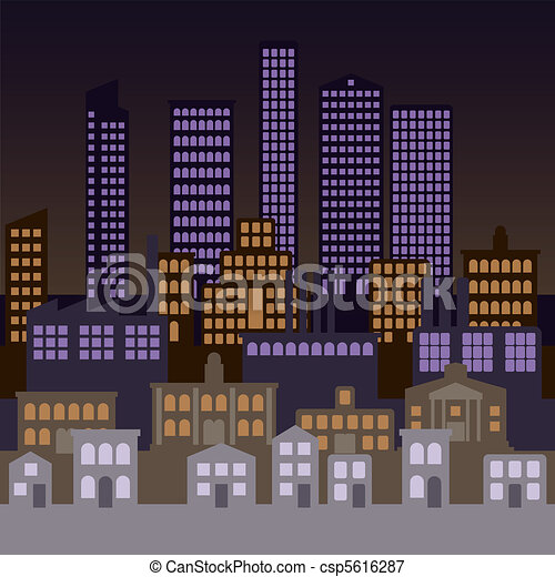 City Background Vector City Background At Night