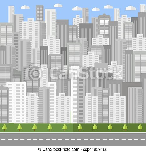 City Background. Urban Landscape - csp41959168