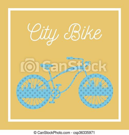City Bicycle. Vintage Bike Background. Vector illustration - csp36335971