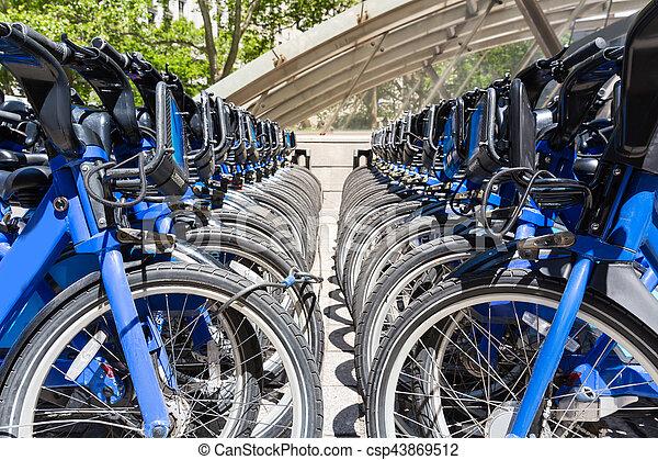 City bikes rent parking in NYC - csp43869512