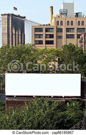 City Billboard Ad Space - csp86185867