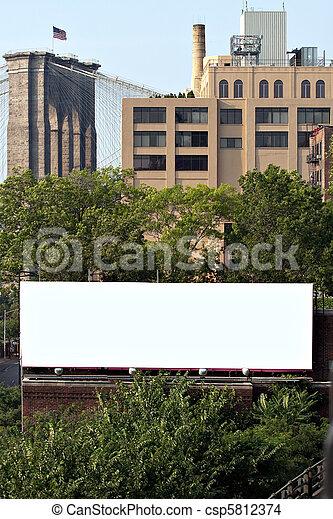 City Billboard Ad Space - csp5812374