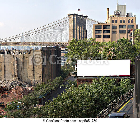 City Billboard Ad Space - csp5051789