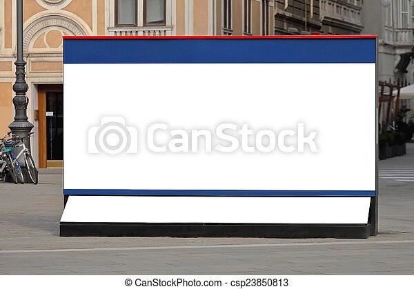 City billboard - csp23850813