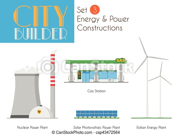 City Builder Set 3: Energy and Power Constructions - csp43472564