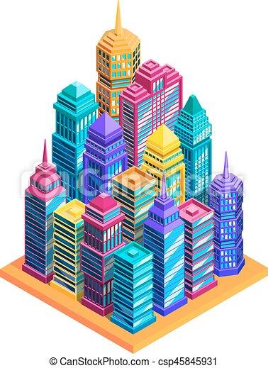 City Buildings Concept - csp45845931