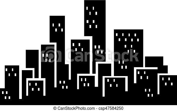 city buildings silhouette simple cityscape buildings silhouette rh canstockphoto com City Scene Clip Art city building clipart png