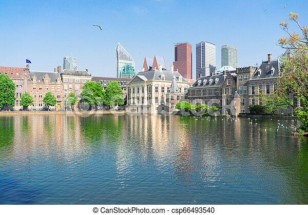 city center of Den Haag, Netherlands - csp66493540