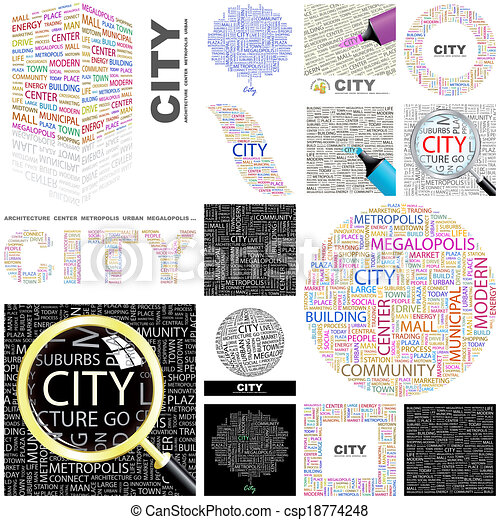 City. Concept illustration. - csp18774248