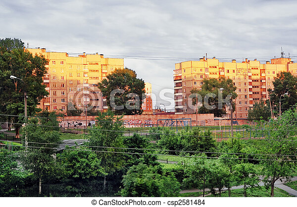 City, evening - csp2581484
