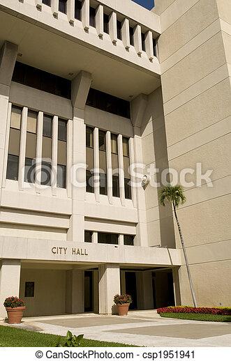 City Hall at West Palm Beach - csp1951941