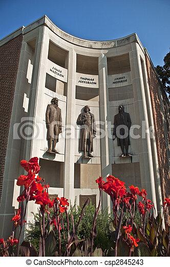 City Hall Downtown Charlottesville Virginia - csp2845243