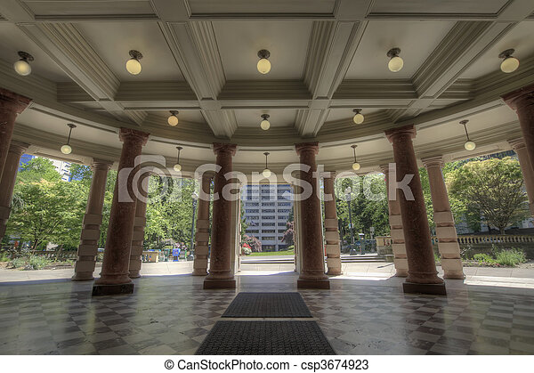 City Hall Entrance Out - csp3674923