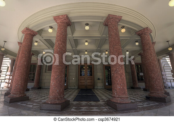 City Hall Entrance - csp3674921