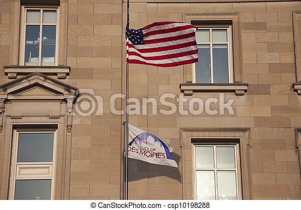 City Hall in Des Moines - csp10198288