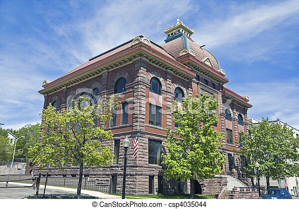 City Hall in Marquette - csp4035044