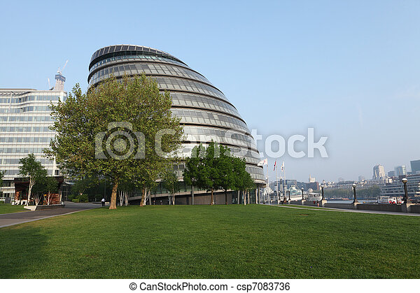 City Hall of GLA in London city England UK - csp7083736